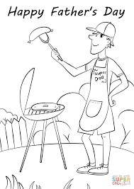 father u0027s day grill coloring page free printable coloring pages