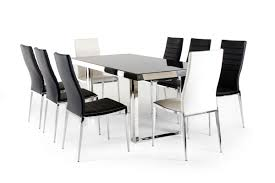 courtland modern stainless steel dining table