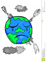doodle earth pollution stock vector image 44827460