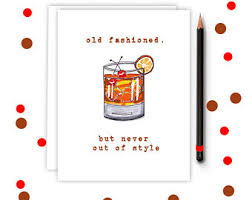 fashioned cards etsy
