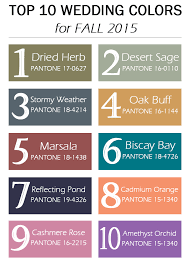 fall colors for weddings top 10 pantone wedding colors for fall 2015 wedding colors 2015