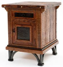 western style furniture distressed wood end table spanish