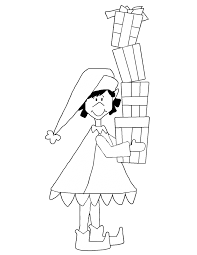 coloring pages of presents christmas coloring book
