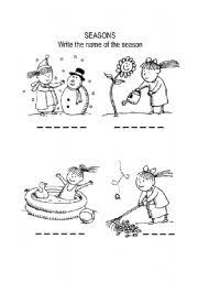english worksheets the seasons worksheets page 5