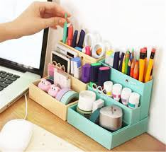 modern desk accessories and organizers diy paper board storage box desk decor stationery makeup cosmetic