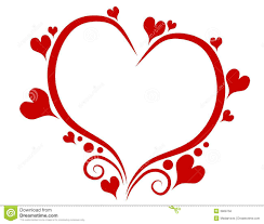 red hearts swirls valentine u0027s day frame stock images image 3909764