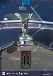 rolls royce hood ornament distinctive hood ornament of a 1955 rolls royce silver dawn stock