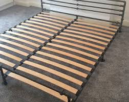 solid wooden chunky bed frame in a choice of sizes single
