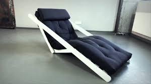 futon lounge chair youtube