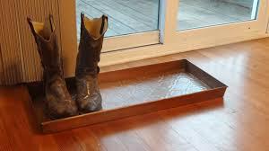 Antique Laminate Flooring Embossed Antique Copper Boot Tray 30 X 13