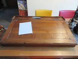 bureau pupitre adulte ancien pupitre bureau ecritoire adulte écolier chêne 83 5 x 55 5