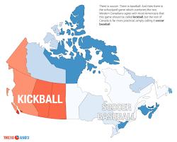 Baseball Map Canada U0027s Other Term For Kickball Is U0027soccer Baseball U0027 Which