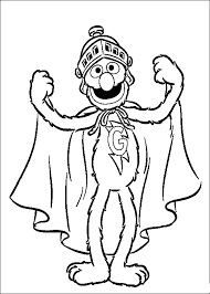 sesame street grover coloring pages kids gky