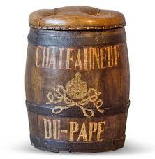 Vintage Ottoman by Chateauneuf Du Pape Vintage Style Wine Barrel Leather Ottoman