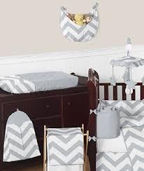 Gray And White Chevron Crib Bedding Gray And White Chevron Zigzag Gender Neutral Baby Bedding 9