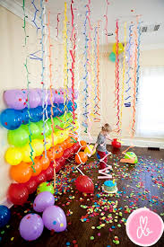 halloween bday party background colorful photo backdrop with balloons and garlands 13 inventive