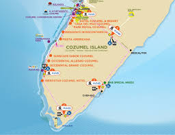 Map Of Cozumel Mexico by Ironman Cozumel