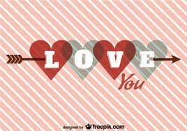 Design For Valentines Card Heart On Arrow Retro Card Design For Valentine U0027s Day Vector Free