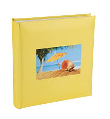 photo album with memo space yellow shell photo album with memo writing space