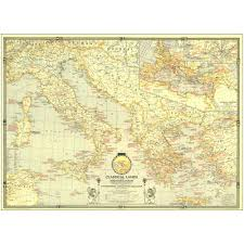 Map Of The Roman Empire 1940 Classical Lands Of The Mediterranean Map National