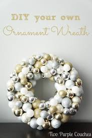 diy ornament wreath two purple couches