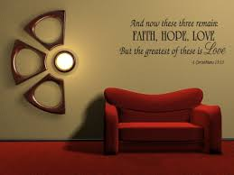 Christian Home Decor Wall Art Amazon Com Faith Hope Love Corinthians Wall Quote Decal Scripture