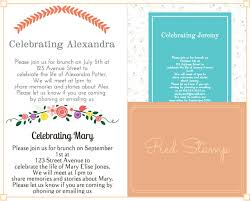 funeral invitation 39 best funeral reception invitations lives on