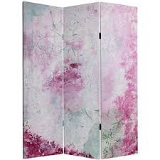 Canvas Room Divider Double Sided Love Blossom 6 Foot Tall Canvas Room Divider Free