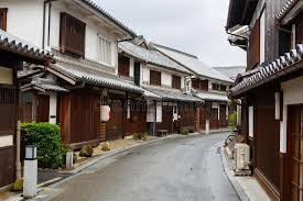 japanese town kurashiki city old japanese town in okayama stock photo image of