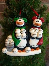 find polymerclay ornaments personalized snowman family