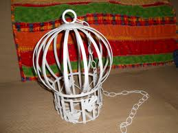 birdcage bird cage vintage home interiors and gifts inc white