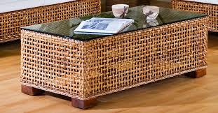 round wicker ottoman coffee table coffeetablesmartin com