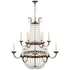 paris flea market grande chandelier view all ceiling circa