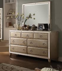 Matte White Bedroom Furniture Voeville 4 Piece Bedroom Set In Matte Gold U0026 Antique White