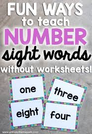 number sight words sight words worksheets and numbers