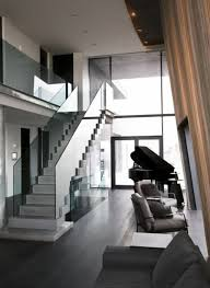 lovely home interior design with fabulous straight stairway and