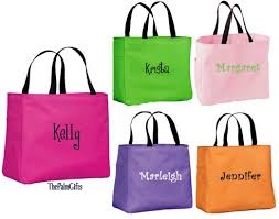 classic bridesmaids monogrammed bag custom personalized