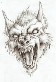Scary Halloween Pictures To Draw Werewolf Head Drawing Not My Art The Werewolves Pinterest