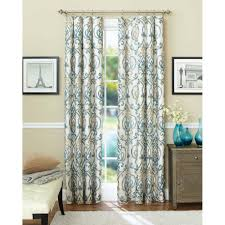 better homes and gardens ikat scroll curtain panel walmart com