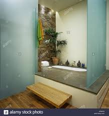 partition brick stock photos partition brick stock images alamy modern style bathroom stock image