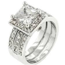 Cubic Zirconia Wedding Rings by Shop Princess Cut Cubic Zirconia Wedding Rings On Wanelo