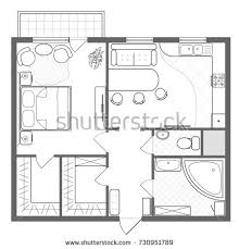 and bathroom floor plan architectural plan house professional layout furniture stock