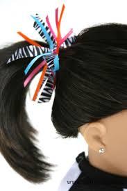 ribbon ponytail make a ribbon ponytail holder for dolls doll it up