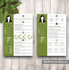 Two Page Resume Template Resume Template With Photo Cover Letter U2013 U201cveronica Black U201d