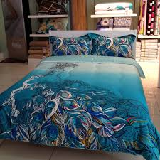 the ideas in applying peacock bedding for your bedroom the new