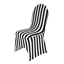 black and white chair covers striped stretch chair cover black white for weddings and events