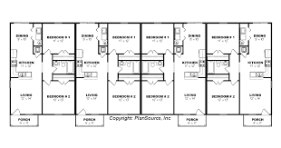 three plex floor plans fourplex plan j0605 14 4