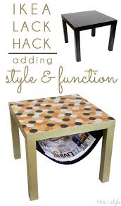 lack end table hack diy with style glam ikea lack hack with a magazine sling ikea