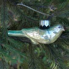 colorful bird christmas ornaments mercury glass bird hand painted