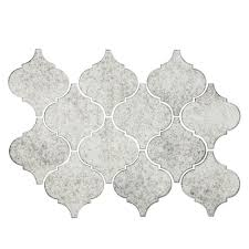 antique mirror arabesque mosaic glass tile 10in x 14in